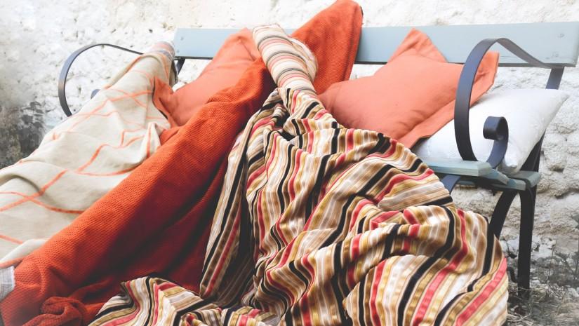 Fabrics - orange,rust